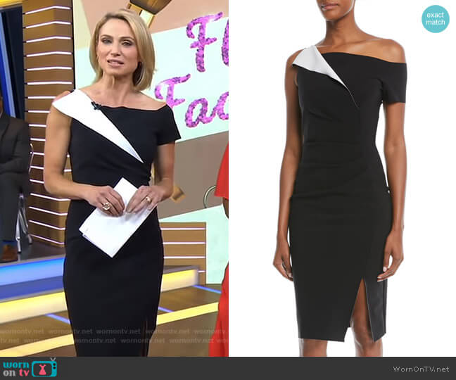 Affie Dress by Chiara Boni La Petite Robe worn by Amy Robach (Amy Robach) on Good Morning America
