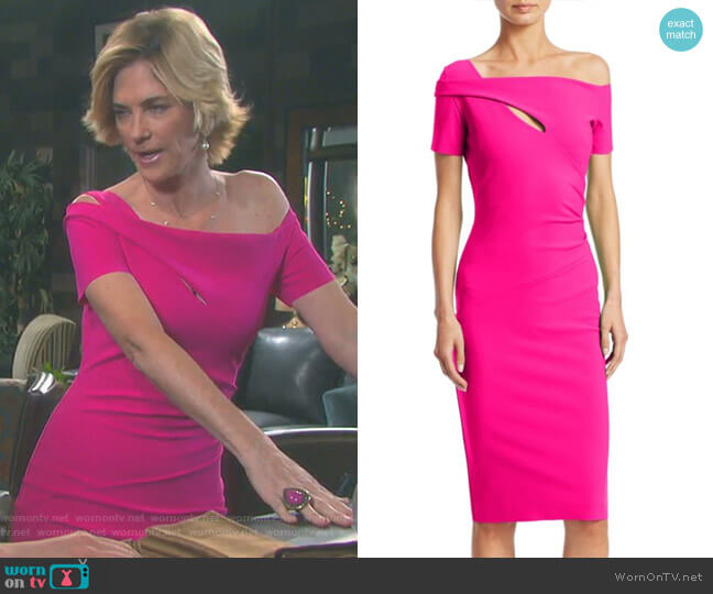 Cutout Knee-Length Dress by Chiara Boni La Petite Robe worn by Kassie DePaiva on Days of our Lives