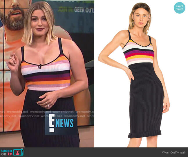 Marguerite Dress by Cinq a Sept worn by Carissa Loethen Culiner  on E! News