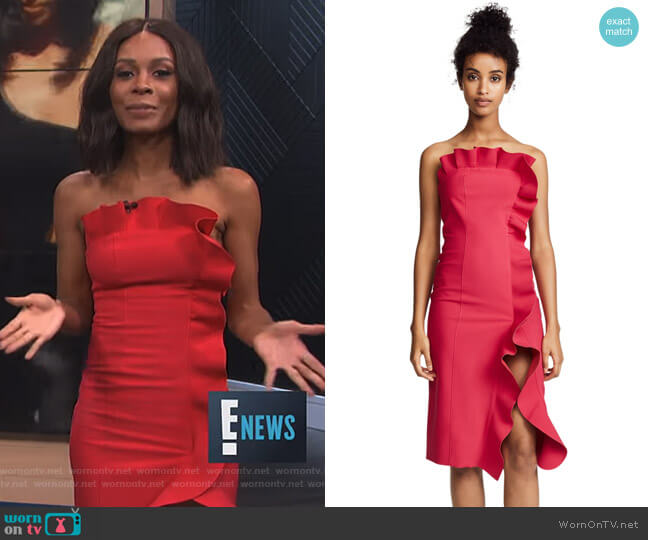 Selma Dress by Cinq a Sept worn by Zuri Hall  on E! News