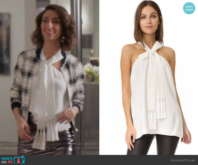 Avita Top by Cinq a Sept worn by Necar Zadegan on GG2D