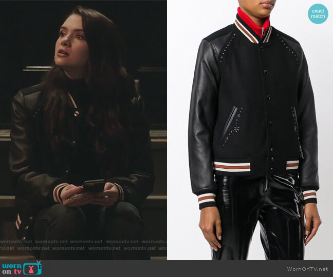 Embellished Varsity Jacket by Coach worn by Katie Stevens on The Bold Type