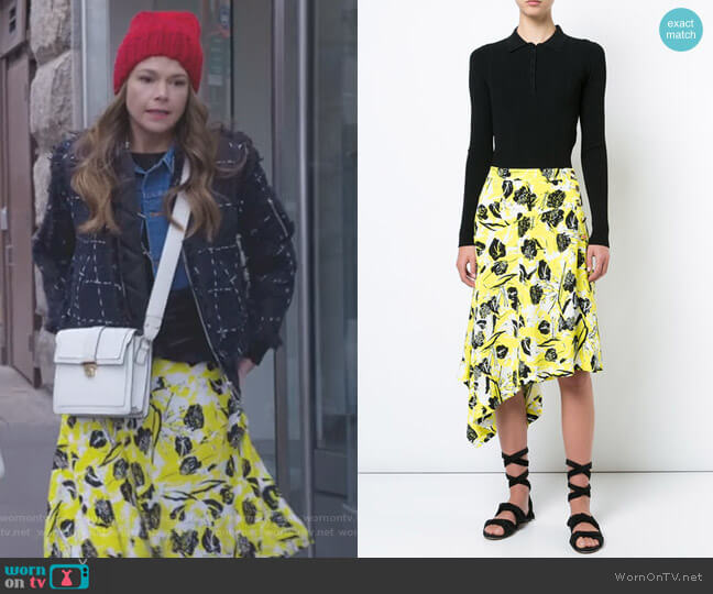 Asymmetrical Midi Skirt by Derek Lam 10 Crosby worn by Liza Miller (Sutton Foster) on Younger