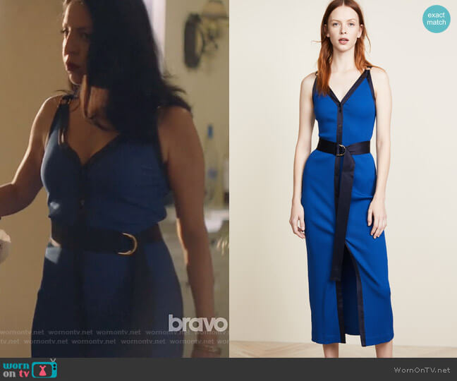 Ribbed Jersey Maxi Dress by Diane von Furstenberg worn by Camila Vargas (Veronica Falcón) on Queen of the South