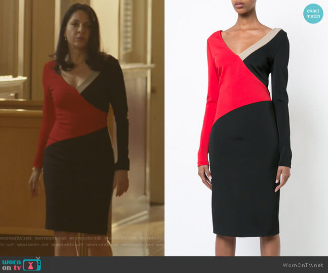 Colourblocked Dress by Diane Von Furstenberg worn by Veronica Falcón on Queen of the South