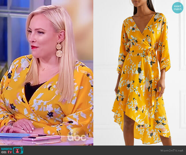 Eloise floral-print silk wrap dress by Diane von Furstenberg worn by Meghan McCain  on The View