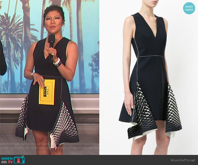 bias perforated mini dress by Dion Lee worn by Julie Chen  on The Talk