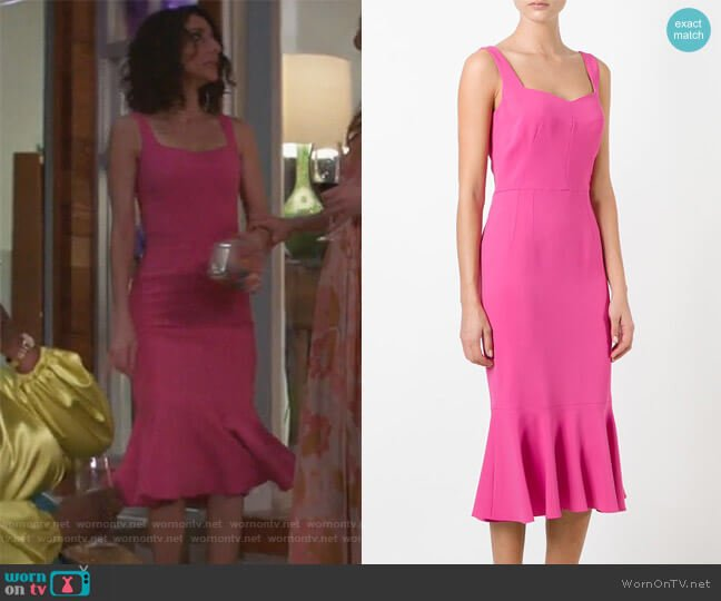 Peplum Hem Midi Dress by Dolce & Gabbana worn by Necar Zadegan on GG2D