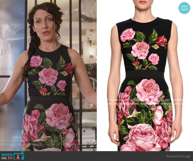 Sleeveless Rose Dress by Dolce & Gabbana worn by Lisa Edelstein on GG2D