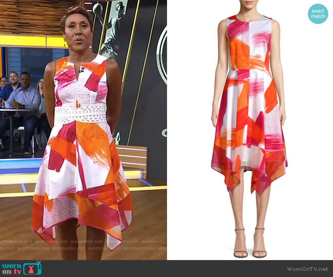 Crewneck Trapeze Dress by Donna Karan New York worn by Robin Roberts  on Good Morning America