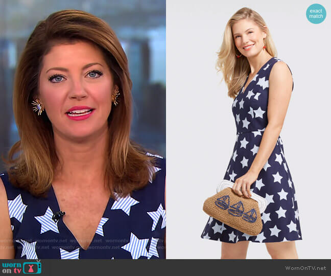 Oh My Stars Love Circle Dress by Draper James worn by Norah O'Donnell on CBS This Morning