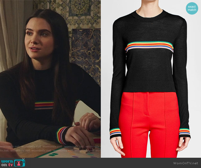 Merino Wool Pullover by Etre Cecile worn by Katie Stevens on The Bold Type