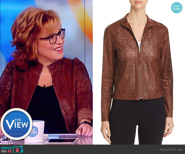 Highline Leather Jacket by Elie Tahari worn by Joy Behar  on The View