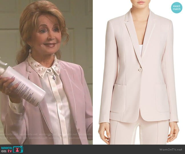 Wendy Ribbon Trim Blazer by Elie Tahari worn by Maggie Horton (Suzanne Rogers) on Days of our Lives