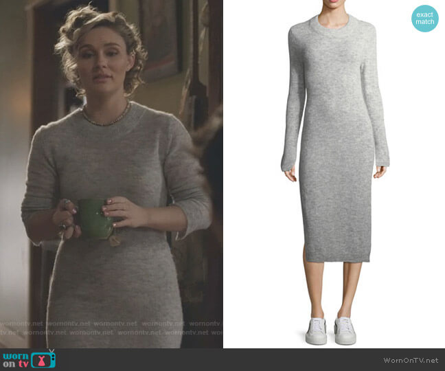 Monroe Fitted Midi Sweaterdress by Elizabeth & James worn by Clare Bowen on Nashville