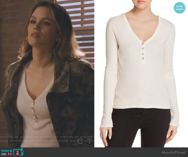 Ester Thermal Henley Top by Elizabeth and James worn by Rachel Bilson on Take Two