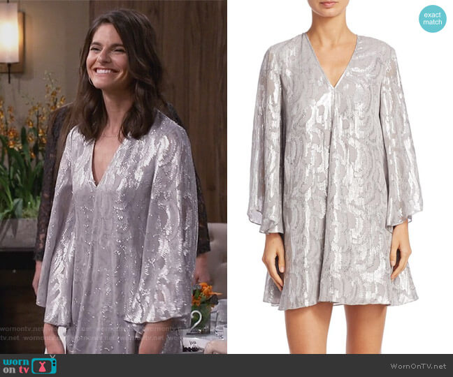 Silk Paloma Jacquard Tunic by Elizabeth and James worn by Leslie Curry (Lindsey Kraft) on Living Biblically