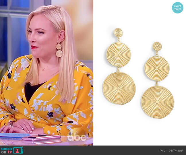 Lorelai Drop Earrings by Elizabeth and James worn by Meghan McCain  on The View