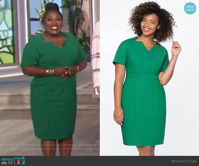 Sheath Dress with Cut Out Neckline by Eloquii worn by Sheryl Underwood on The Talk
