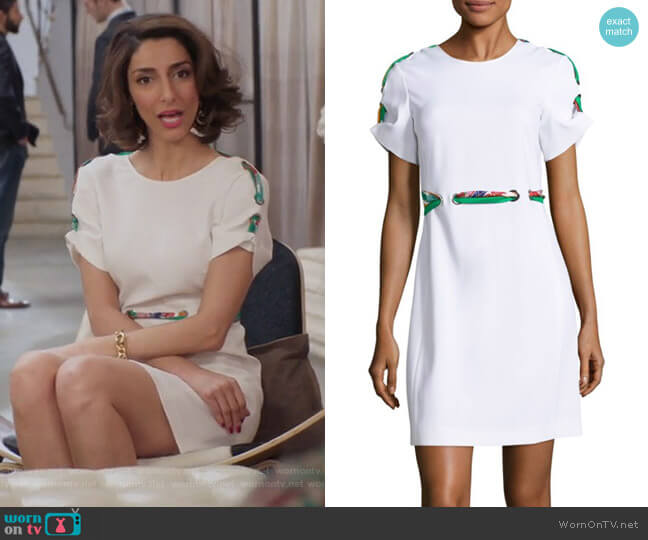 Silk-Blend Tie Dress by Emilio Pucci worn by Delia (Necar Zadegan) on GG2D