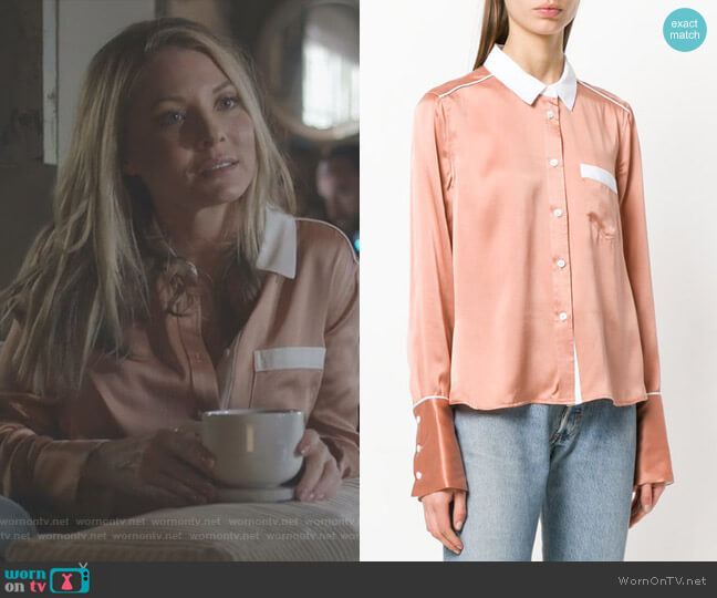 Huntley shirt by Equipment worn by Kaitlin Doubleday on Nashville
