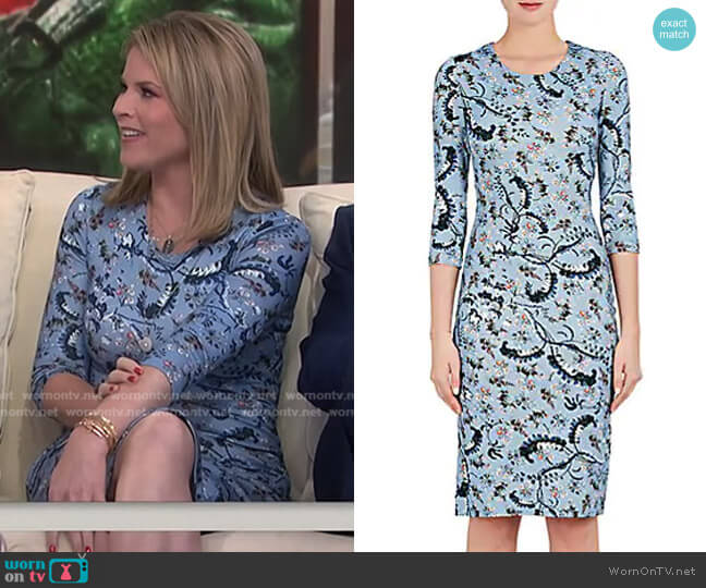 Floral-Print Jersey Dress by Erdem worn by Jenna Bush Hager  on Today