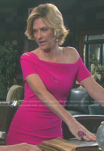 Eve's pink cutout sheath dress on Days of our Lives