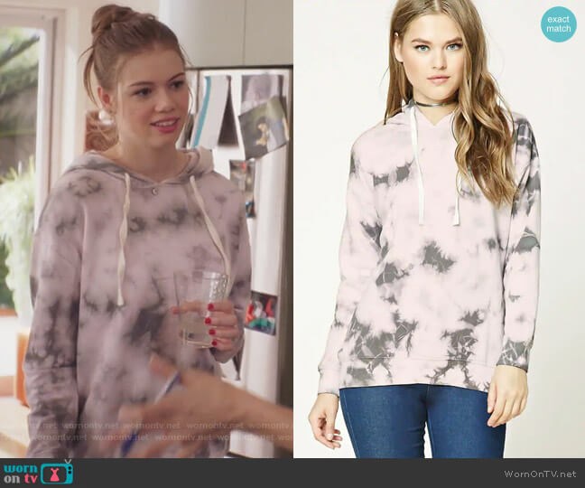 Tie-Dye Print Hoodie by Forever 21 worn by Lilly McCarthy Novak (Conner Dwelly) on GG2D