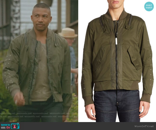 Cotton-Blend Bomber Jacket by G-Star RAW worn by Charles Michael Davis on The Originals