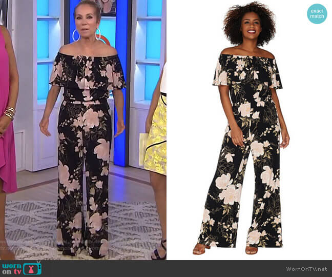 Off The Shoulder Jumpsuit by GILI worn by Kathie Lee Gifford on Today