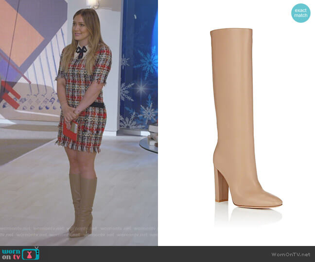 Laura Leather Knee Boots by Gianvito Rossi worn by Hilary Duff on Younger