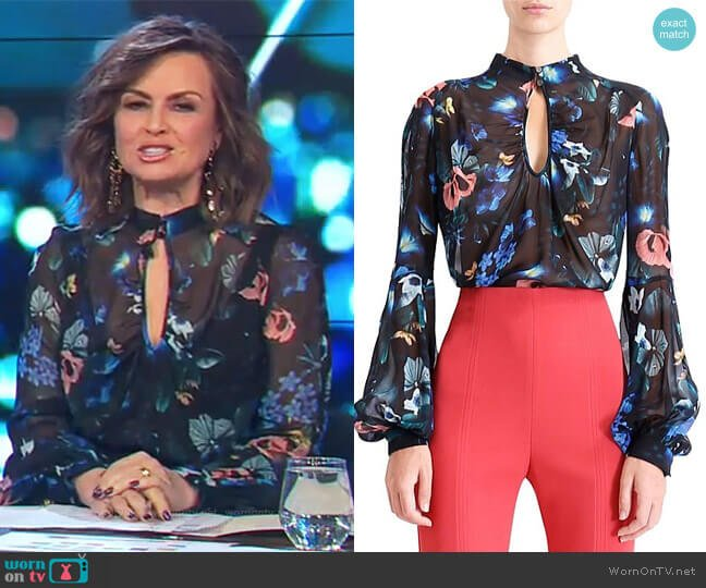 Harmony Blouse by Ginger & Smart worn by Lisa Wilkinson on The Project