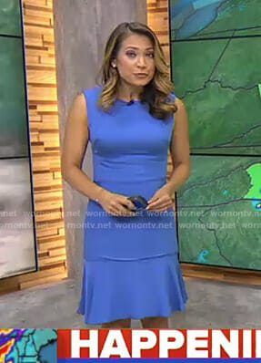 Ginger's blue sleeveless dress on Good Morning America