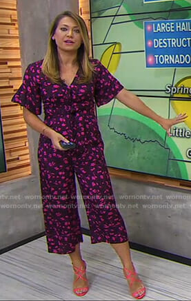 Ginger's purple floral jumpsuit on Good Morning America