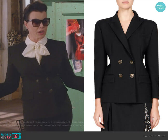 Mohair Double-Breasted Jacket by Givenchy  worn by Debi Mazar on Younger