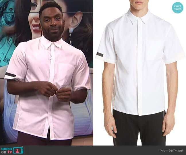 Short Sleeve Shirt by Helmut Lang worn by Justin Sylvester on E! News