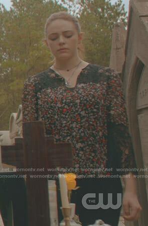Davina's red suede jacket on The Originals