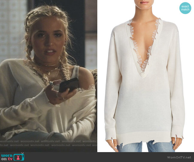 Pao Lace-Trimmed Sweater by Iro Jeans worn by Maddie Jaymes (Lennon Stella) on Nashville