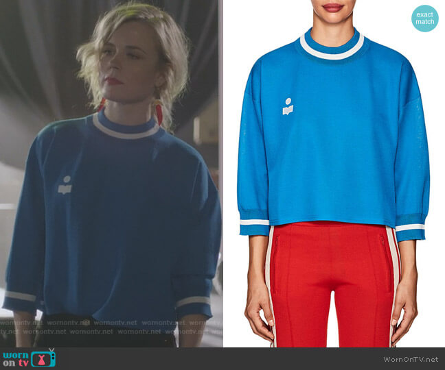 Dayton Logo Crop Sweatshirt by Etoile Isabel Marant worn by Ilse DeLange on Nashville