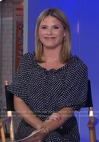 Jenna's navy polka dot dress on Today