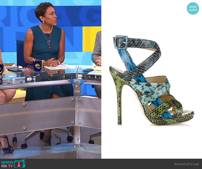 Dido Sandals by Jimmy Choo worn by Robin Roberts on Good Morning America