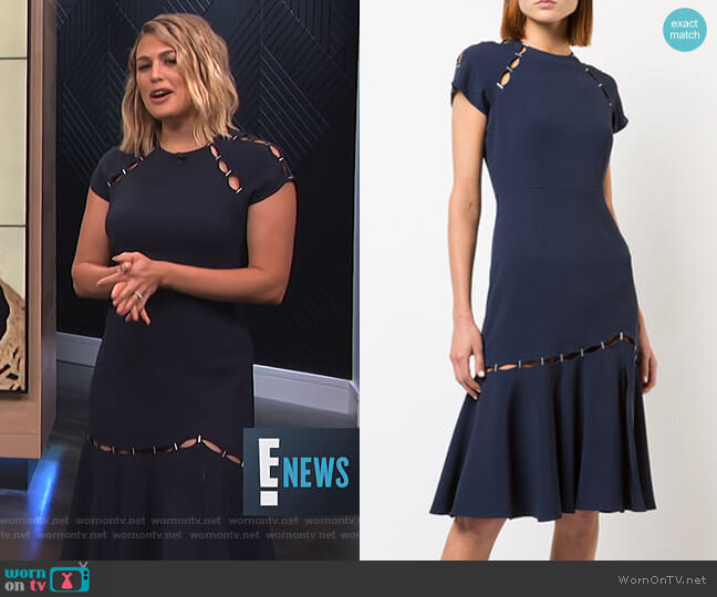 Staple Detail Dress by Jonathan Simkhai worn by Carissa Loethen Culiner (Carissa Loethen Culiner) on E! News