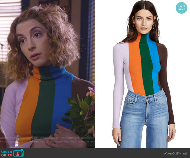Long Sleeve Turtleneck by JoosTricot worn by Molly Bernard on Younger