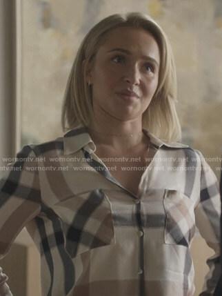 Juliette's plaid button down shirt on Nashville