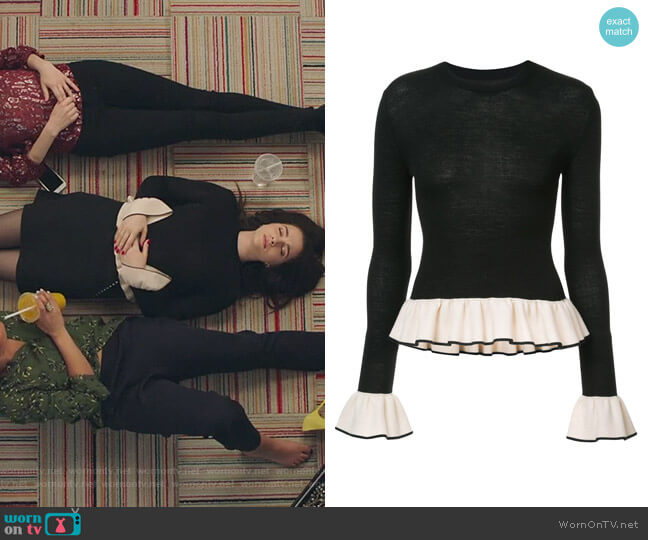 Claudia sweater by Khaite worn by Katie Stevens on The Bold Type