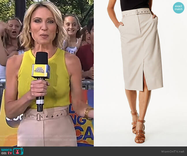 Belted Utility Skirt by Karen Millen worn by Amy Robach  on Good Morning America