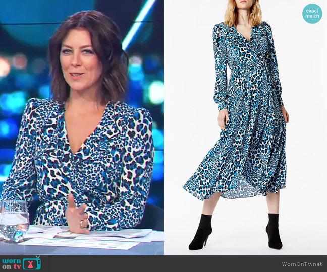 Leopard Midi Dress by Karen Millen worn by Gorgi Coghlan  on The Project