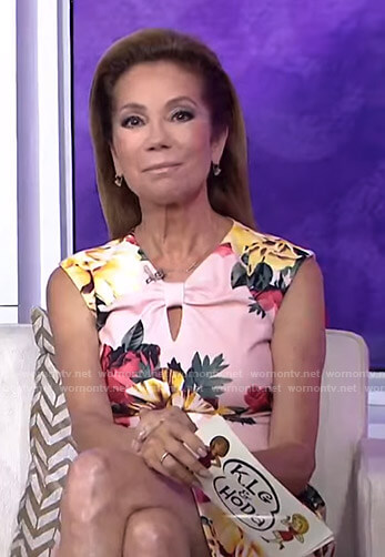 Kathie's pink floral keyhole dress on Today