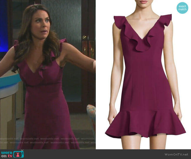 Harlow Ruffle Mini Dress by Likely worn by Chloe Lane (Nadia Bjorlin) on Days of our Lives
