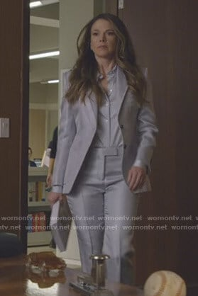 Liza's metallic suit on Younger